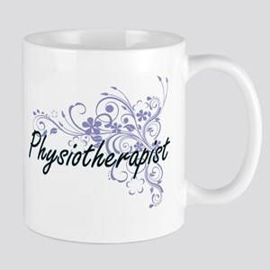Physiotherapist Artistic Job Design with Flow Mugs