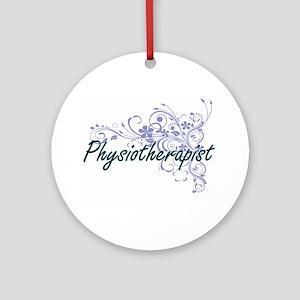 Physiotherapist Artistic Job Design Round Ornament
