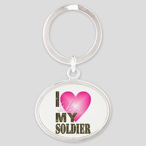 I love my soldier Keychains