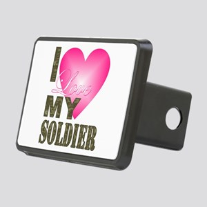 I love my soldier Rectangular Hitch Cover