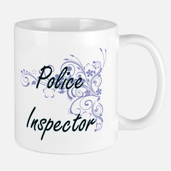 Police Inspector Artistic Job Design with Flo Mugs
