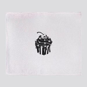Cadaver Cupcake w/ Stripes, Skull & Stars Throw Bl