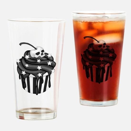Cadaver Cupcake w/ Stripes, Skull & Stars Drinking