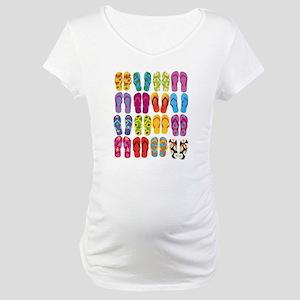 Summer Fun Flip Flops Maternity T-Shirt