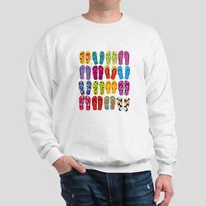 Summer Fun Flip Flops Sweatshirt