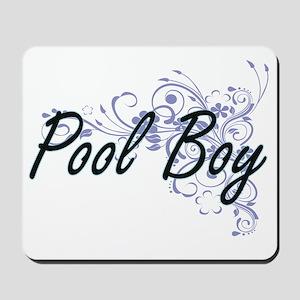 Pool Boy Artistic Job Design with Flower Mousepad