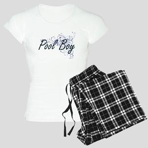 Pool Boy Artistic Job Desig Women's Light Pajamas
