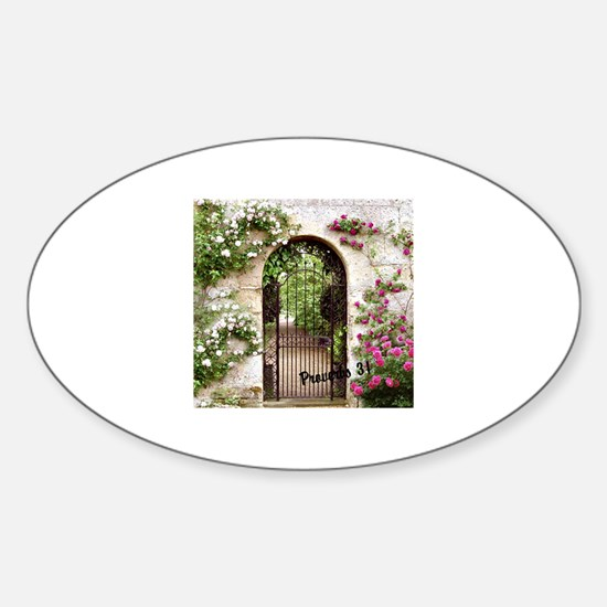 Proverbs 31 Woman at the City Gate Decal