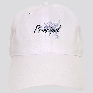 Principal Artistic Job Design with Flowers Cap