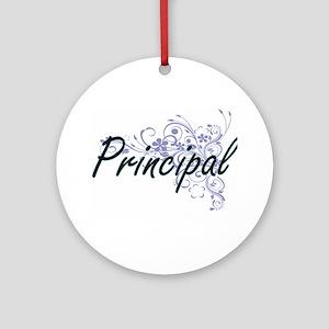 Principal Artistic Job Design with Round Ornament