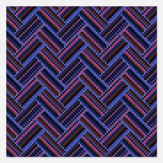 Chevron Knit 2 - 5.25 X Flat Cards Invitations