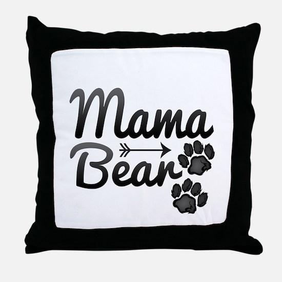 Mama Bear Throw Pillow