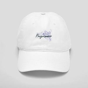 Programmer Artistic Job Design with Flowers Cap