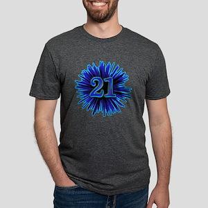 21st Blue Spray T-Shirt