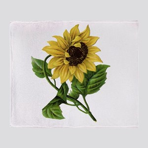 Vintage Sunflower Lc Throw Blanket