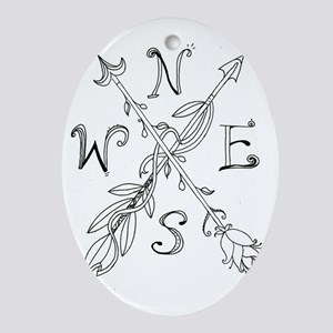 Gypsy Arrow Compass Oval Ornament