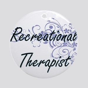Recreational Therapist Artistic Job Round Ornament