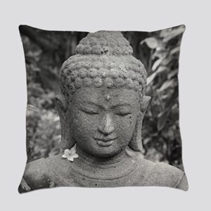 BUDDHA IN GREY Everyday Pillow
