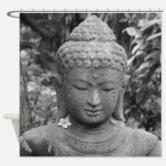 BUDDHA IN GREY Shower Curtain