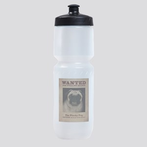 The Plucky Pug Sports Bottle