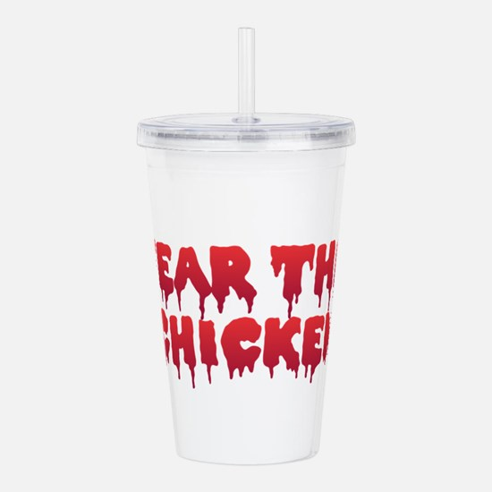 Fear the Chicken Acrylic Double-wall Tumbler