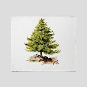 Vintage Pine Tree Lc Throw Blanket