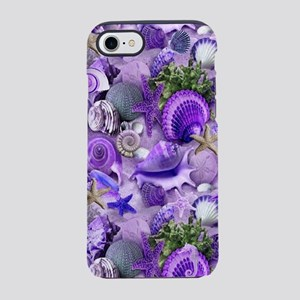 Purple Seashells and Starfis iPhone 8/7 Tough Case