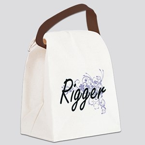 Rigger Artistic Job Design with F Canvas Lunch Bag