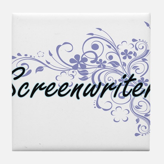 Screenwriter Artistic Job Design with Tile Coaster