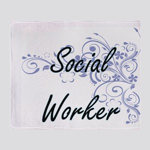 Social Worker Artistic Job Design wi Throw Blanket
