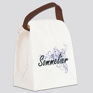 Sommelier Artistic Job Design wit Canvas Lunch Bag