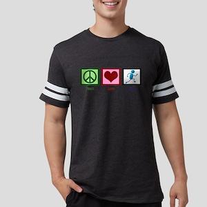 Peace Love Run Mens Football Shirt