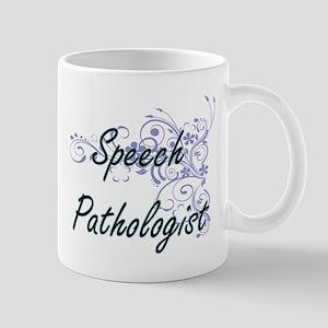 Speech Pathologist Artistic Job Design with F Mugs