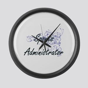Sports Administrator Artistic Job Large Wall Clock