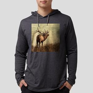 rustic western wild elk Long Sleeve T-Shirt