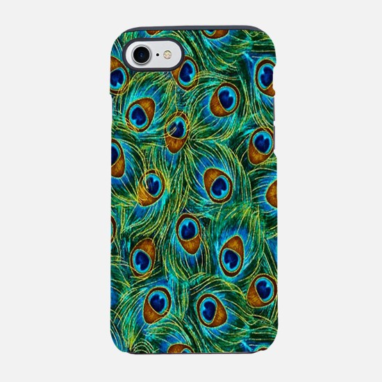 Pretty Peacock Feathers iPhone 8/7 Tough Case