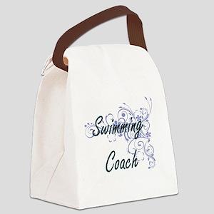 Swimming Coach Artistic Job Desig Canvas Lunch Bag