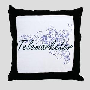 Telemarketer Artistic Job Design with Throw Pillow