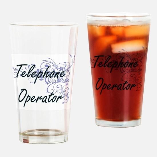 Telephone Operator Artistic Job Des Drinking Glass