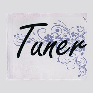 Tuner Artistic Job Design with Flowe Throw Blanket