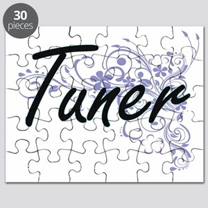 Tuner Artistic Job Design with Flowers Puzzle