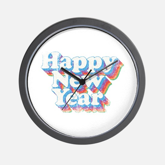 Happy New Year vintage used Wall Clock