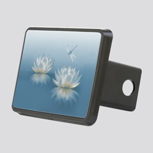 Blue Lotus and Dragonfly Rectangular Hitch Cover