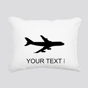 Airplane Silhouette Rectangular Canvas Pillow