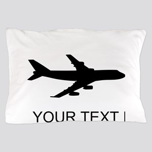Airplane Silhouette Pillow Case