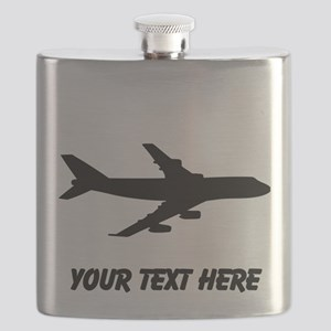 Airplane Silhouette Flask