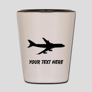 Airplane Silhouette Shot Glass