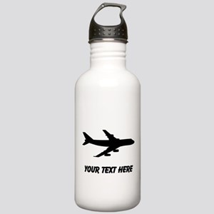 Airplane Silhouette Water Bottle