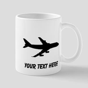 Airplane Silhouette Mugs