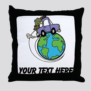 World Travel Throw Pillow